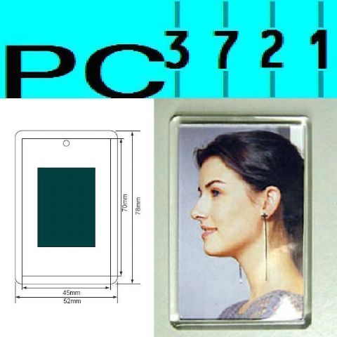 Pack of 10 Blank Rectangular Clear Plastic Fridge Magnets 70 x 45 mm Insert C1108